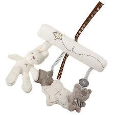 Musical Plush Crib Stroller Baby Pram Rattle Hanging Rabbit Star Toy For Kid