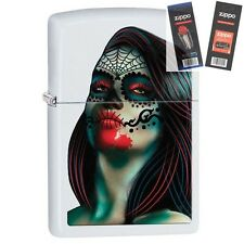 Zippo 29400 Day of the Dead Woman Lighter with *FLINT & WICK GIFT SET*