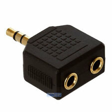 3.5 mm Mini Stereo Jack per Cuffie Splitter Adattatore Maschio Spina a 2 socket Femmina