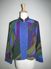 Nancy Bolen City Girl Size L Artsy Print Blazer Jacket