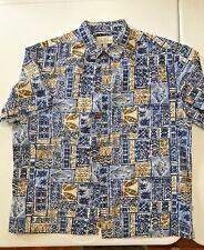 """Island Shores Original Island Wear MEN'S Button Up SS Shirt XXL 53"""" Chest"""