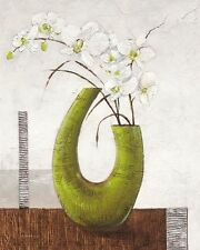 Karsten Kirchner: Majestic Leinwand-Bild 24x30 modern grün Stillleben floral