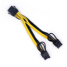 CPU 8Pin to Graphics Video Card Double PCI-E Power Supply Splitter Cable 15cm