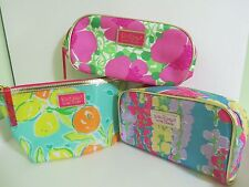 Lot 3 X NEW Estee Lauder LIMITED Lilly Pulitzer Waterproof Cosmetic Make Up Bag