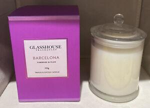 Glasshouse Fragrances Barcelona Tuberose & Plum Triple Scented 350g Candle