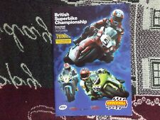 2004 KNOCKHILL BRITISH SUPERBIKE BSB PROGRAMME - 4/7/04