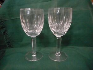 pair of Waterford crystal Kildare pattern wine glasses
