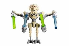OFFICIAL LEGO GENERAL GRIEVOUS MINIFIGURE & 4 LIGHTSABERS PERFECT NEW CONDITION