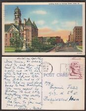 1959 Illinois Postcard - Joliet - Chicago Street Scene