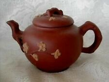 Handmade YIXING ZISHA Unglazed Daisies Red Clay Pottery Teapot - NEW From China