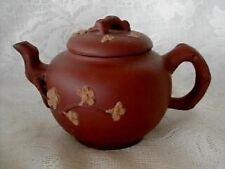 Handmade YIXING ZISHA Unglazed Daisies Red Clay Pottery Teapot - NEW From China