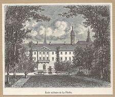 école militaire de la Flèche gravure ancienne 1884/ B1MB36