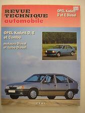 revue technique automobile  RTA  E.T.A.I   NEUVE OPEL Kadett  D et  E diesel