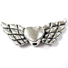 20 pieces Tibetan Silver Heart Alloy Beads - A0646
