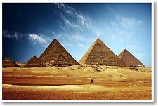 Egyptian Pyramids - Giza 7 Wonders Classroom NEW POSTER