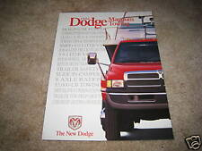 1996 Dodge Ram 1500 2500 truck Cummins Dakota Van towing sales brochure