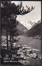 VALLE D'AOSTA COGNE 79 GHIACCIAIO GRAN PARADISO Cartolina FOTOGRAF. viagg. 1965