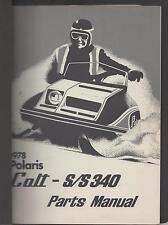 1978 POLARIS SNOWMOBILE COLT & S/S 340 PARTS MANUAL P/N 9910517 (861)