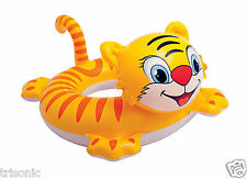 TIGER INFLATABLE INTEX BIG ANIMAL KIDS SWIM RING POOL FLOAT RAFT SWIMMING TUBE