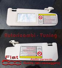 ALETTA PARASOLE PANTINA DESTRA FIAT 500 DAL 2007 IN POI LATO PASSEGGERO