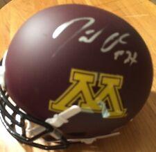 David Cobb Signed Minnesota Mini Helmet Autographed AUTO 2015 NFL Draft