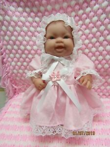 Handmade Clothes Dress set Pink Spot -14inch Berenguer Lots to love/Chubby Doll