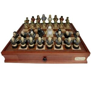 """Dal Rossi Italy Lord of The Rings Luxury Chess Set 20"""" Board Polyresin Pieces"""
