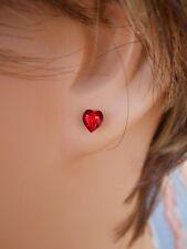 Crystallite Destine Heart-shaped Austrian Crystal Earrings