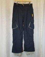 Burton Snowboard Ski Cargo Pants Women's Size M Navy Blue Vented CA #26902 EUC!
