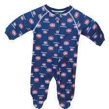 NHL Montreal Canadiens Newborn Boys Sleepwear All Over Print Zip Up Coverall 0-3