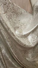 "1m SILVER COLOUR PAISLEY METALLIC BROCADE FABRIC 58"" WIDE cheapest"