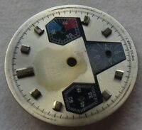 Chronograph mens wristwatch triple compax dial 28 mm. in diameter