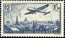 "FRANCE TIMBRE STAMP AVION N° 9 "" AVION SURVOLANT PARIS 1F 50 "" NEUF X TB"