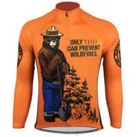 SMOKEY BEAR Team Cycling Jersey Retro Road Pro Short Long Sleeve MTB Bike