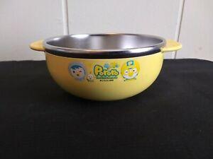 Non Slip Pororo Feeding Children Kid Baby Bowl Dish Stainless Steel Korea