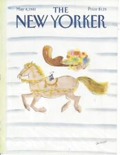 COVER ONLY ~The New Yorker magazine ~ May 4. 1981 ~ Sempe Sempé  ~Man on horse