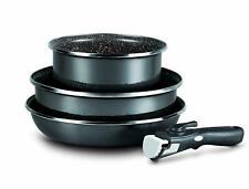 LOT de 3 pièces avec manche amovible casserole de 20 cm faitout 26 cm + poêle