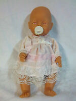 "Baby Born Zapf Creation Unusal Pink Eyed Baby Doll 17"" Rubber Toy"