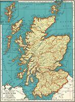 1938 Antique MAP of SCOTLAND Map United Kingdom Scotland Gallery Wall 8274