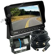 "9"" Dual Double Twin Lens/View CCD Camera Rear Facing Backup Camera System Kit"