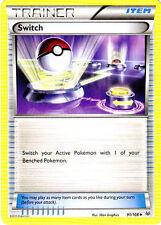 4X Switch 91/108 -Uncommon Trainer -Nm- Xy Roaring Skies Pokemon