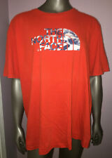 The North Face Blue Camo Logo Red TShirt Mens Size Extra Extra Large 2XL XXL