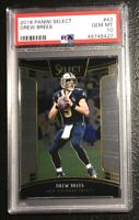 2018 PANINI SELECT 43 Drew Brees PSA 10 GEM MINT