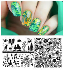 Nagel Schablone BORN PRETTY L011 Nail Art Stamp Stamping Template Plates