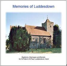 Luddesdown, Kent -Genealogy CD contains Parish Registers (BMD) Transcripts
