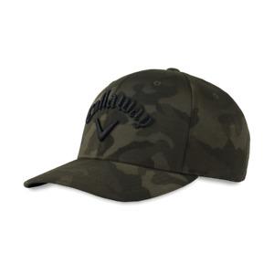 Callaway Camo FlexFit Tech Snapback Golf Hat Green Adjustable New 12520