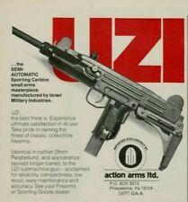 1982 UZI Israel Military Semi Automatic Sport Carbine Photo Vintage Print Ad