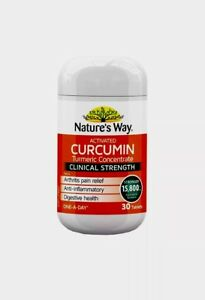 BEST PRICE NATURE WAY ACTIVATED CURCUMIN 30 TABLETS TURMERIC CONCENTRATE 15800MG