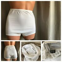 VTG BALI Panties White Butter Soft Nylon Spandex GUSSET Hi-Cut Panty Briefs L/7