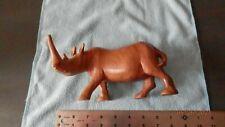 Black Rhino wood sculpture from Kenya